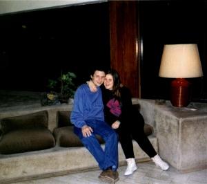 Mi marido y yo en nuestra Luna de Miel en Bariloche, Río Negro, República Argentina.